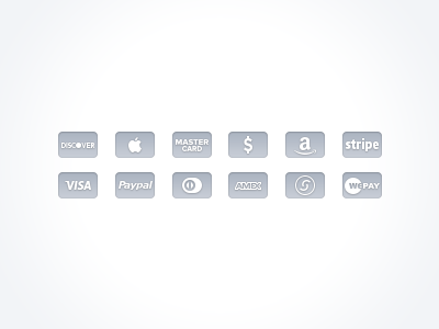 Free Gray Credit Card Icons