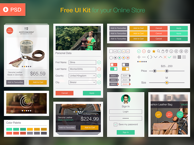 Free UI Kit by Ramotion