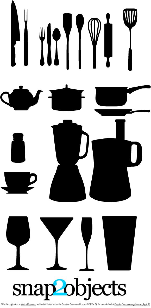 Kitchen Appliances Silhouettes