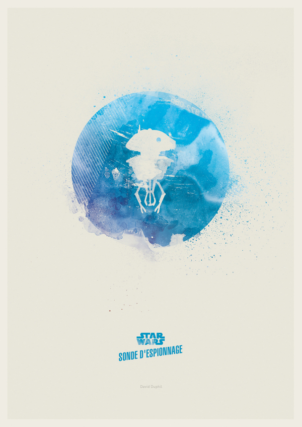 Minimalist Star Wars by David Duphil