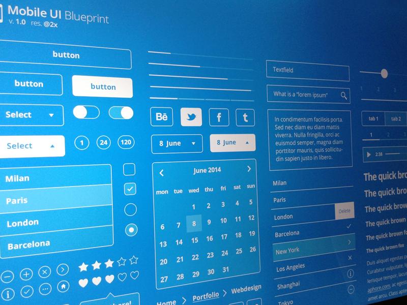 Mobile UI Blueprint by Chrometaphore