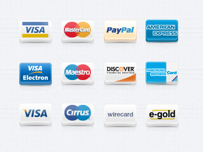 Payment Method Icons Set by Pixeden