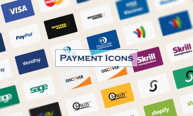 Payment credit cards icons