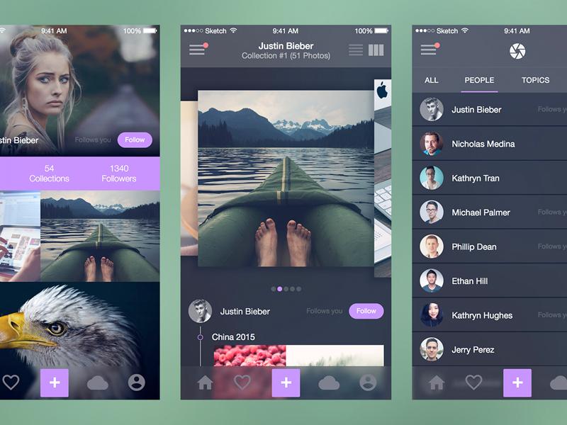 Photo Splash (Full iOS UI Kit) for Sketch by Maximlian Hennebach