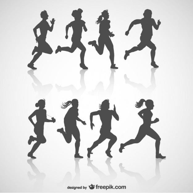 Runners Silhouette Vector Free by Freepik