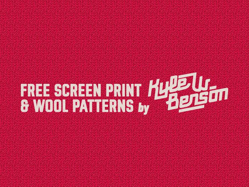 Screen Print & Wool Patterns by Kyle Wayne Benson