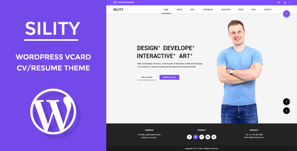 20 beautiful resume wordpress themes