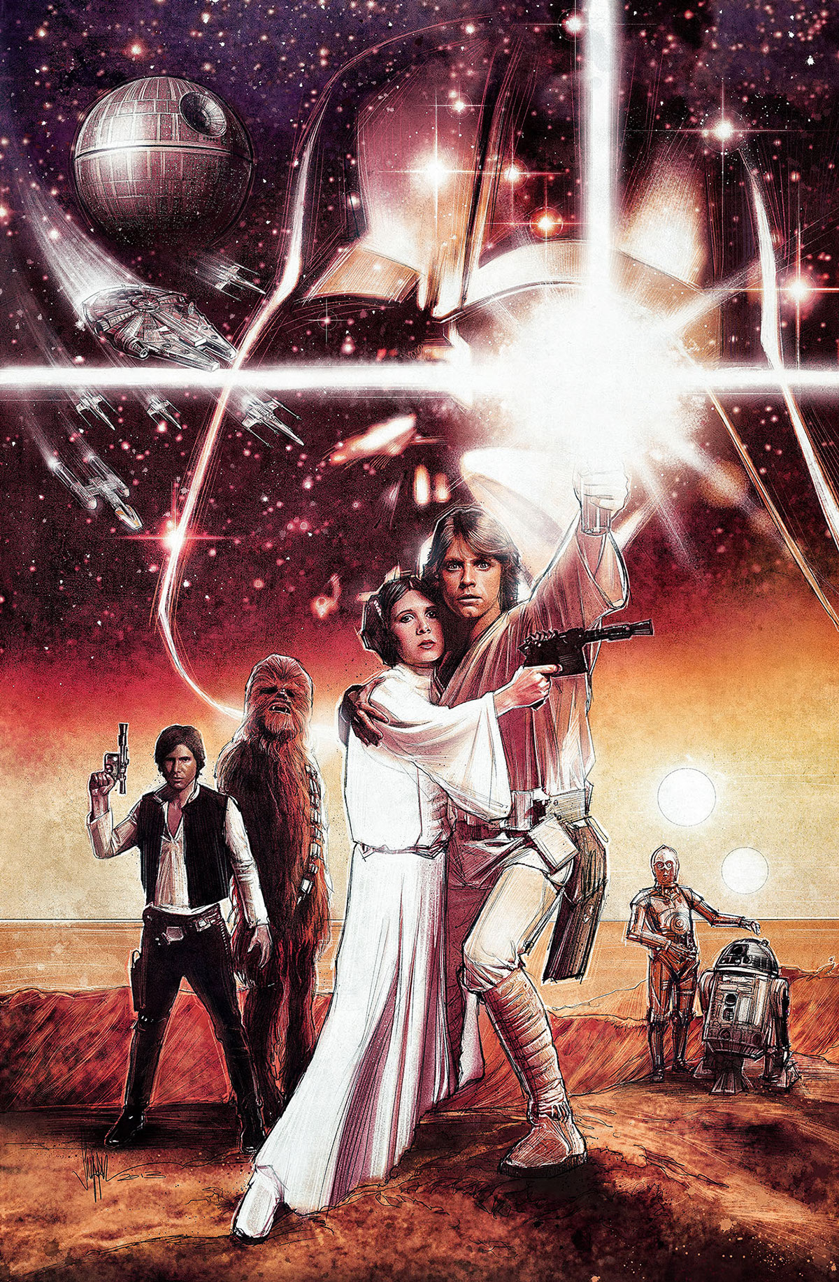 Star Wars - A New Hope by Paul Shipper