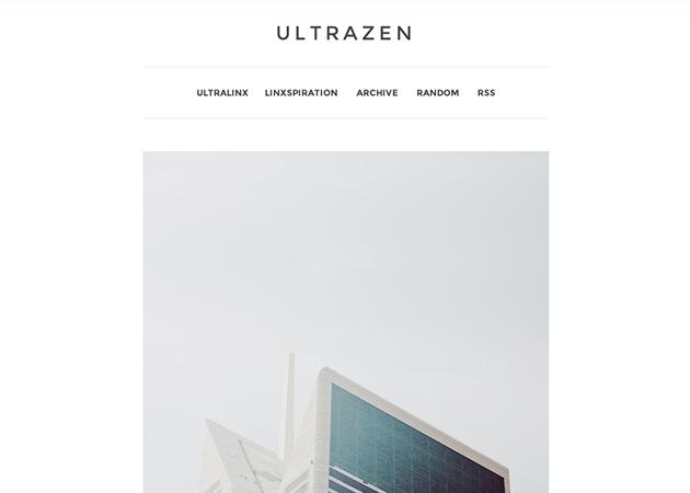 UltraZen Free Minimal Tumblr Theme by Oliur