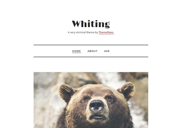 Whiting Tumblr Theme