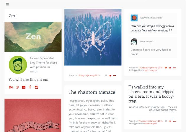 Zen Tumblr Theme