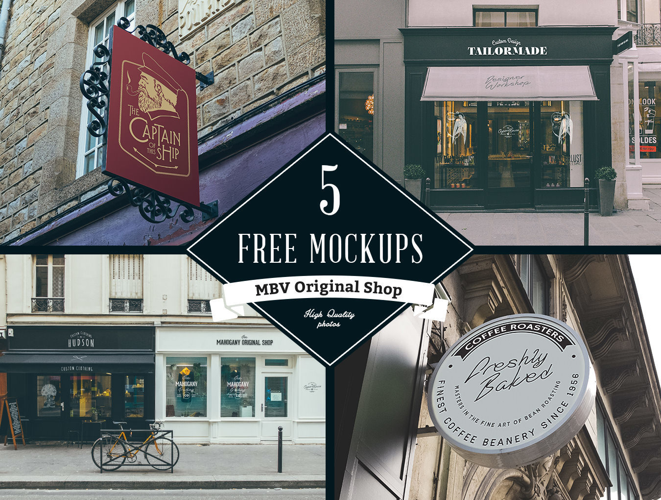 5 Free Store Sign Mockups Inspirationfeed