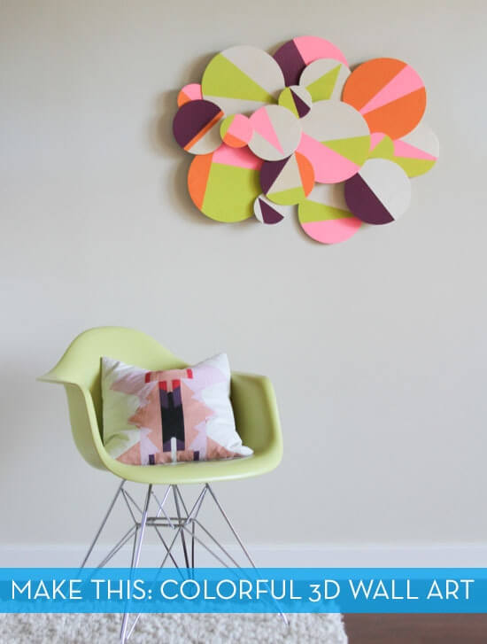 3D Colorblock Wall Art from Curbly