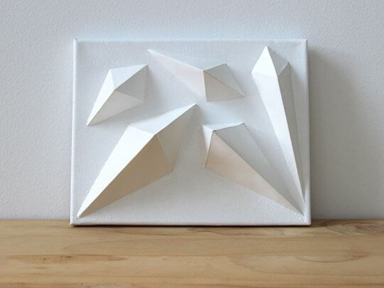 3D geometric wall panel from DIY Network