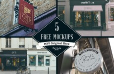 5 Free Store Sign Mockups