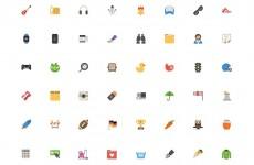 50 Free Flat Icons