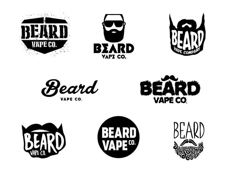 Beard Vape Co. Logo Rejects by Edrian Colina