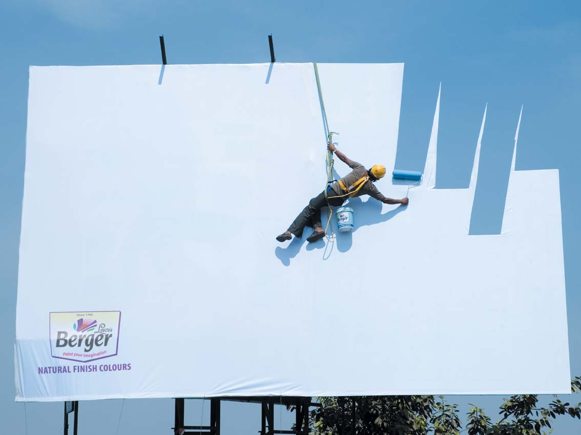 Berger Paint Billboard Ad