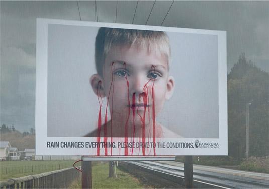 Bleeding billboard