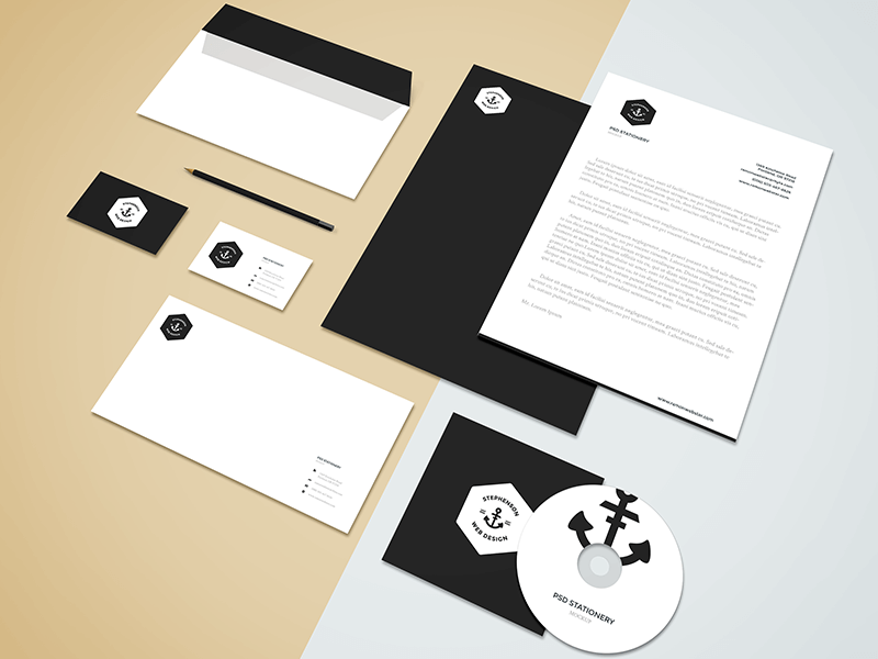 Branding,Stationery Mockup by GraphBerry