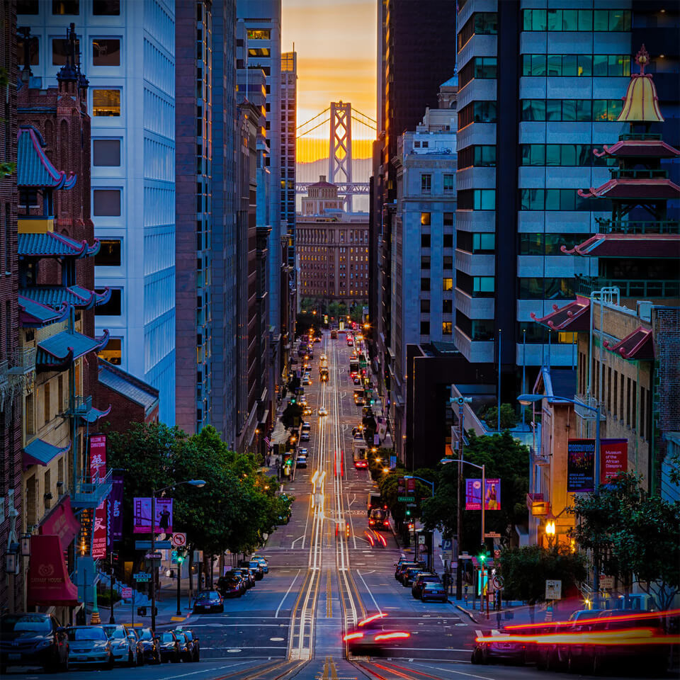 California Street, San Francisco by Robert Ray