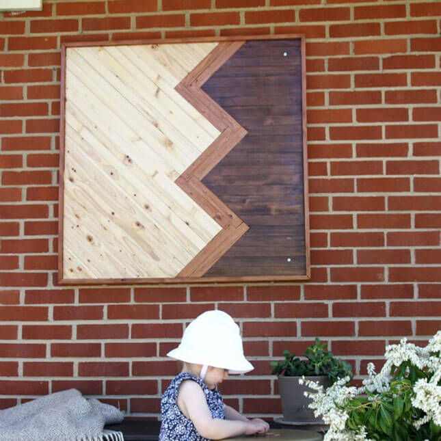 Chevron Outdoor Wall Art from Home Depot