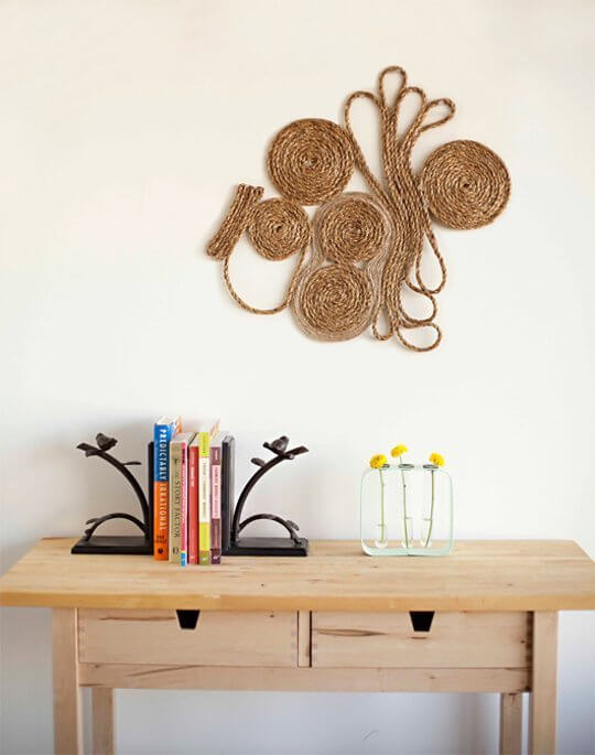 Coiled sisal art from Modcloth