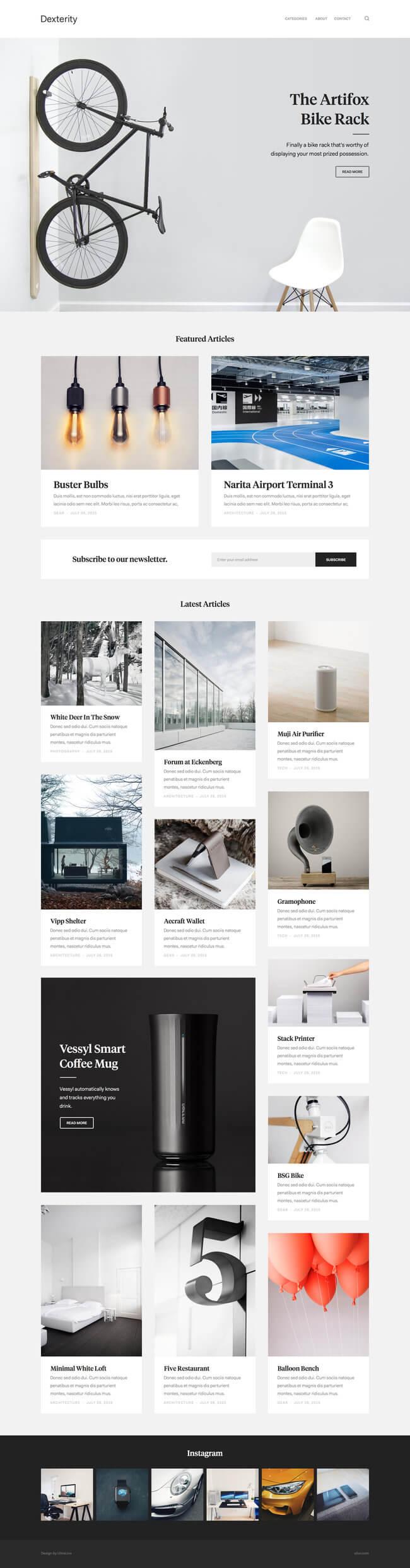 Dexterity Blog Magazine Layout by Oliur