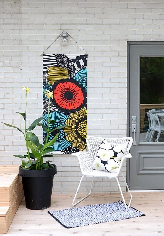 Fabric hanging from Nalle's House