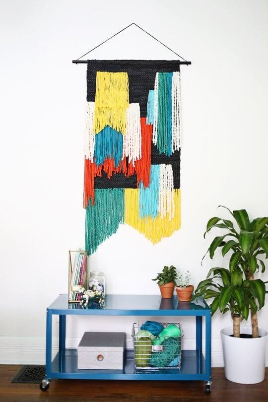 Fiber art wall hanging from A Beautiful Mess