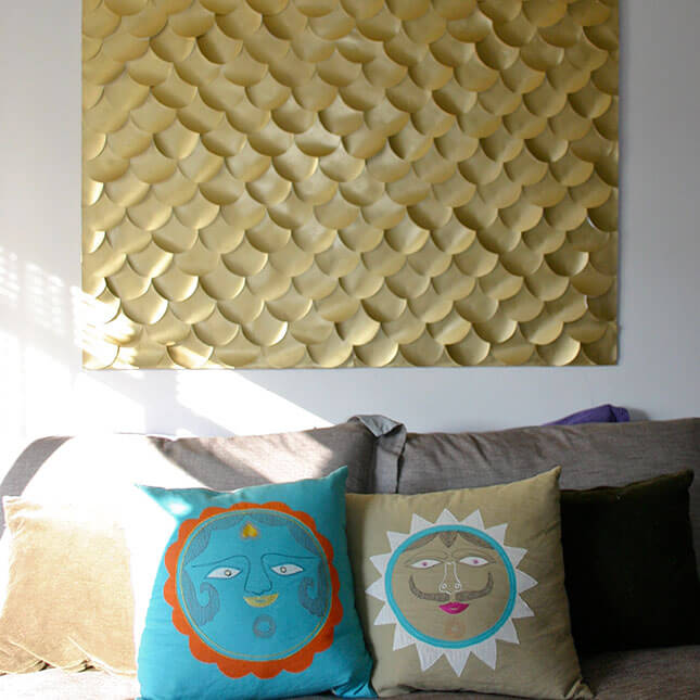 Fish Scale Wall Art from Let's Go Sunning