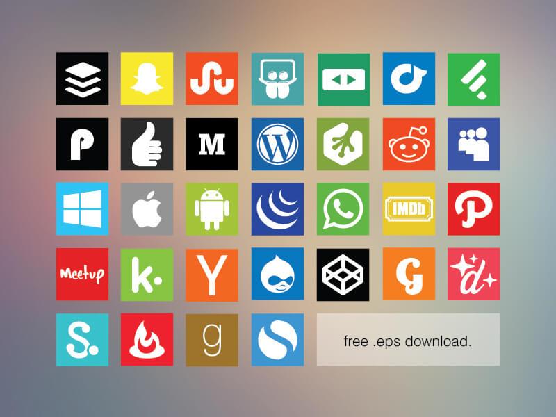 Free Flat Social Media Icon Set 2 by Allan McAvoy
