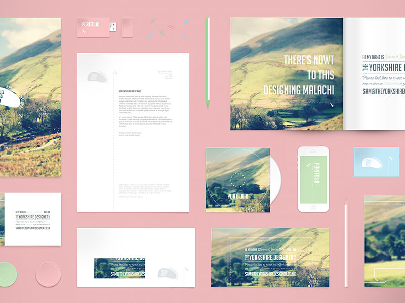 Free Stationery Mockup PSD by Samuel James Oxley