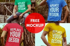 Free T-shirt Mockups for Designers-min