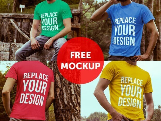 free tshirt mockup for commercial use