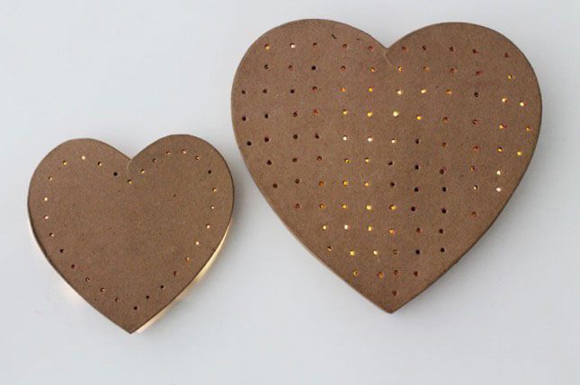 Glowing Hearts Wall Art from Brit + Co.