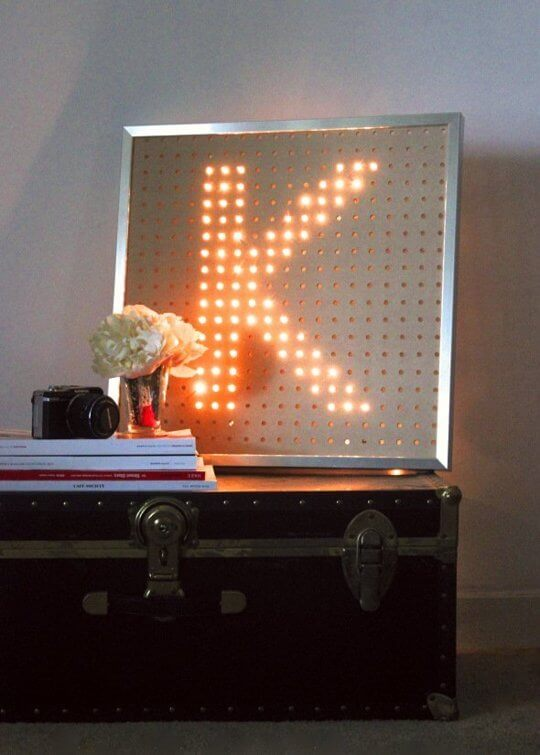 Light Bright-inspired monogram from Miss Kris Turner
