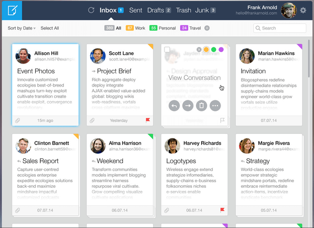 Mail Client Concept by Roman Shkolny