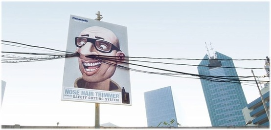 Nose hair trimmer billboard