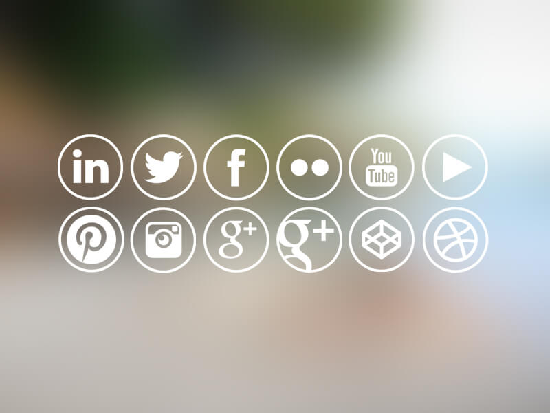 Outlined Social Media Icons by Kevin Lofthouse
