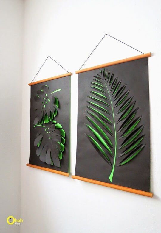 Paper botanical art from OhOhBlog