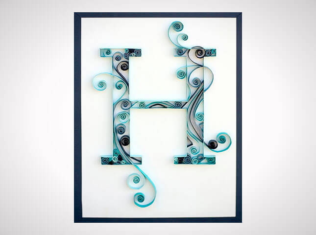 Quilled Monogram from Craftastical