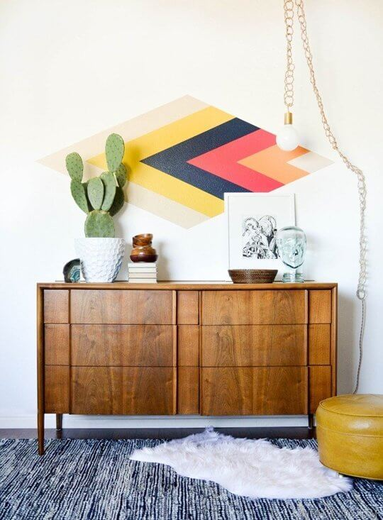 Retro diamond focal wall from Vintage Revivals