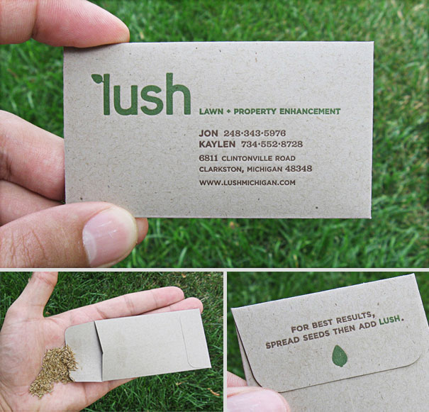 Top 40 best business cards ever created inspirationfeed for Seed business cards