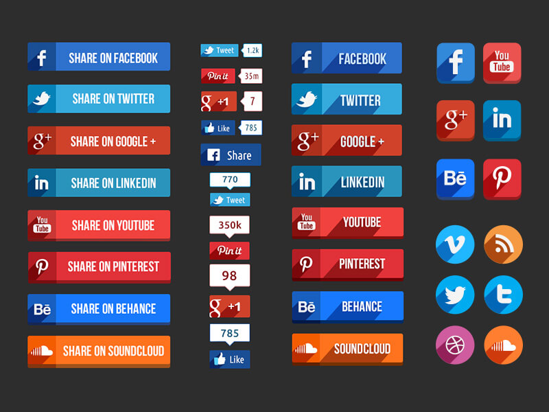 Social Media Buttons by Hakan Ertan