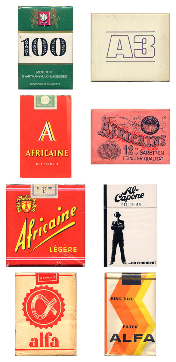 Vintage Cigarette Pack Designs