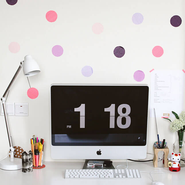 Washi Tape Dot Wall Art from CraftGawker