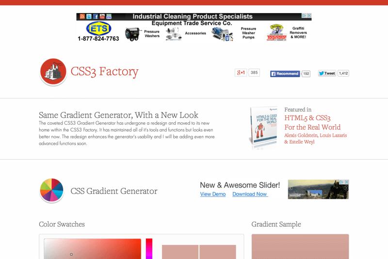 CSS3 Factory Gradient Generator