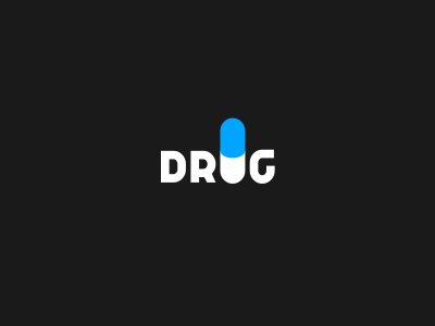Drug Pill Logo Design by Dalius Stuoka