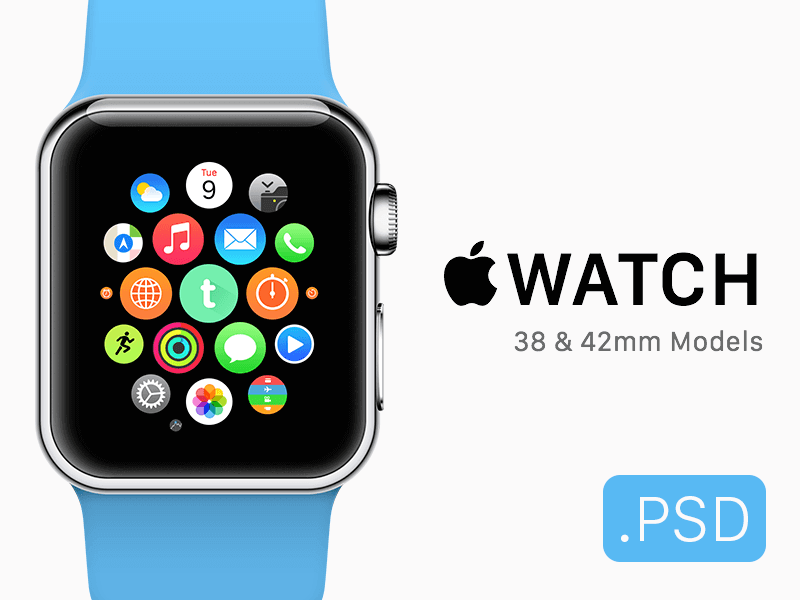 30 Free Apple Watch Templates and Mockups | Inspirationfeed